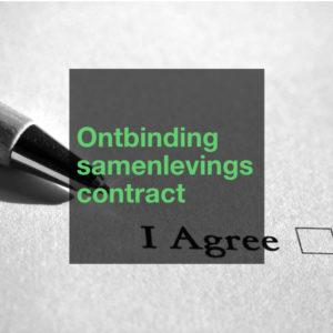 Ontbinding samenlevingscontract